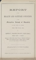view [Report of the Medical Officer of Health for Shoreditch].