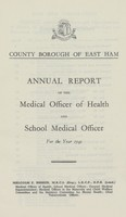 view [Report of the Medical Officer of Health for East Ham].