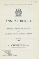 view [Report of the Medical Officer of Health for Richmond upon Thames].