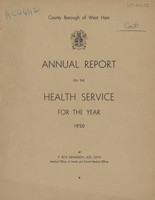 view [Report of the Medical Officer of Health for West Ham].