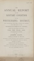 view [Report of the Medical Officer of Health for Whitechapel].