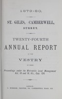 view [Report of the Medical Officer of Health for Camberwell].