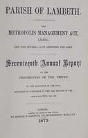 view [Report of the Medical Officer of Health for Lambeth].