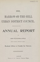 view [Report of the Medical Officer of Health for Harrow-on-the-Hill].