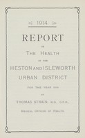 view [Report of the Medical Officer of Health for Heston and Isleworth].
