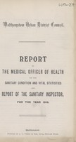 view [Report of the Medical Officer of Health for Walthamstow].