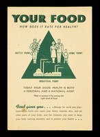 view Your food : how does it rate for health? / Metropolitan Life Insurance Company.