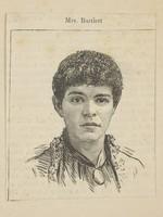 view Adelaide Bartlett, accused of murdering her husband. Wood engraving, ca. 1886.
