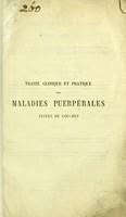 view Traité clinique et pratique des maladies puerpérales suites de couches / par le docteur E. Hervieux.