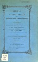 view Verslag van de werkzaamheden der Commissie voor Cholera-zieken te Groningen in het jaar 1854 : benevens eenige opmerkingen em bijzonderheden op deze epidemie betrekkelijk