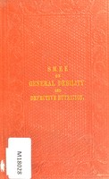 view General debility and defective nutrition : their causes, consequences, and treatment