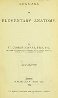 view Lessons in elementary anatomy