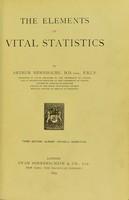 view The elements of vital statistics