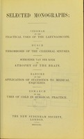 view Selected monographs.