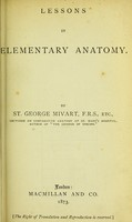 view Lessons in elementary anatomy / by St. George Mivart