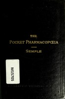 view The pocket pharmacopoeia : being an abridgment of the British pharmacopoeia of 1885 with the appendix of 1890