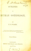 view Outlines of human osteology / by F.O. Ward.