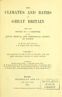 view The climates and baths of Great Britain : being the report of a committee of the Royal Medical and Chirurgical Society of London.