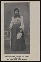 view Julianne Sleebus, a woman with a large beard. Process print, 190-.