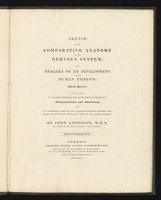 view Sketch of the comparative anatomy of the nervous system; with remarks on its development in the human embryo ... / By John Anderson.