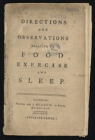 view Directions and observations relative to food, exercise and sleep.
