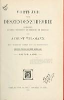 view Vorträge über Deszendenztheorie : gehalten an der Universität zu Freiburg im Breisgau.