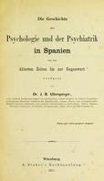 view Die Geschichte der Psychologie und der Psychiatrik in Spanien von des ältesten Zeiten bis zur Gegenwart.