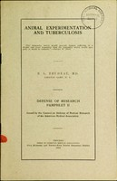 view Animal experimentation and tuberculosis