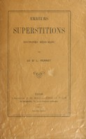 view Erreurs, superstitions, doctrines médicales