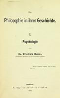 view Die Philosophie in ihrer Geschichte / Von Dr. Friedrich Harms.
