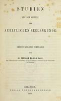 view Studien auf dem Gebiete der aerztlichen Seelenkunde : gemeinfassliche Vortraege / von Friedrich Wilhelm Hagen.