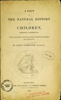 view A fact in the natural history of children, hitherto unobserved; which explains much concerning infantile diseases and mortality.