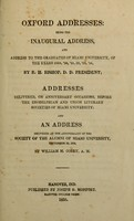 view Address, delivered before the Union Literary Society of Mismi University, at their anniversary celebration, September 23d, 1834.