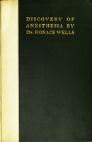 view Discovery of anesthesia by Dr. Horace wells; memorial services at the fiftieth anniversary.