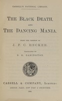 view The black death and the dancing mania