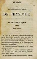 view Abrégé des leçons élémentaires de physique / de MM. Victor Baume et Poirrier.