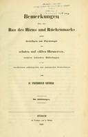 view Untersuchungen im Gebiete der Anatomie und Physiologie mit besonderer Hinsicht auf seine anatomischen Tafeln / von Dr. Friedrich Arnold.