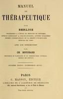view Manuel de thérapeutique / par Berlioz ; avec une introduction par Ch. Bouchard.