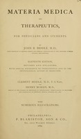 view Materia medica and therapeutics : for physicians and students / by John B. Biddle.