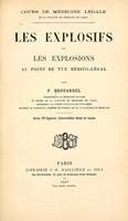 view Les explosifs et les explosions au point de vue mico-lal / par P. Brouardel ... Avec 39 figures intercals dans le texte.