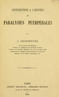 view Contributions l'histoire des paralysies puerpales.