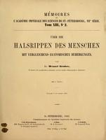 view Ueber die Halsrippen des Menschen mit vergleichend-anatomischen Bemerkungen / von Wenzel Gruber ; mit 2 Tafeln.