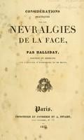view Considérations pratiques sur les névralgies de la face / par Halliday.