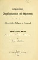view Neukantianismus, Schopenhauerianismus und Hegelianismus in ihrer Stellung zu den philosophischen Aufgaben der Gegenwart / von Eduard von Hartmann.