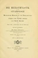 view Die Heilgymnastik in der Gynaekologie : und die mechanische Behandlung von Erkrankungen des Uterus und seiner Adnexe nach Thure Brandt