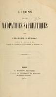 view Leçons sur les myopathies syphilitiques / par Charles Mauriac.