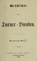 view Geschichte des Turner-Bundes / von Heinrich Metzner.