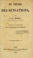 view Du délire des sensations / par C.-F. Michéa.