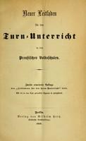 view Neuer Leitfaden für den Turn-Unterricht in den Preussischen Volkschulen.