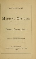 view Instructions for medical officers of the United States Navy.